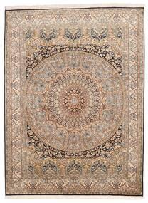 Cachemire Puri Di Seta Tappeto 155X207 Orientale Fatto A Mano Marrone/Marrone Scuro (Seta, India)