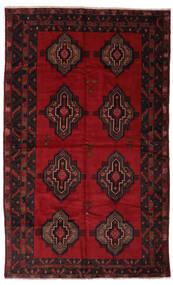 Beluch Tappeto 193X312 Orientale Fatto A Mano Nero/Rosso Scuro (Lana, Afghanistan)