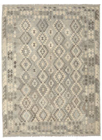 Kilim Afghan Old Style Tappeto 183X240 Orientale Tessuto A Mano Grigio Scuro/Verde Oliva (Lana, Afghanistan)