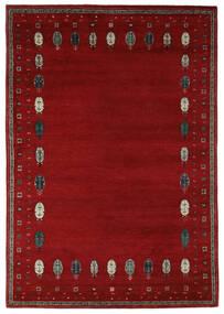 Gabbeh Loribaft Tappeto 168X244 Moderno Fatto A Mano Nero/Rosso Scuro (Lana, India)