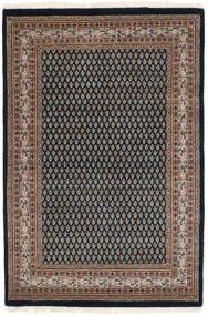 Mir Indo Tappeto 125X183 Orientale Fatto A Mano Nero/Marrone Scuro (Lana, India)